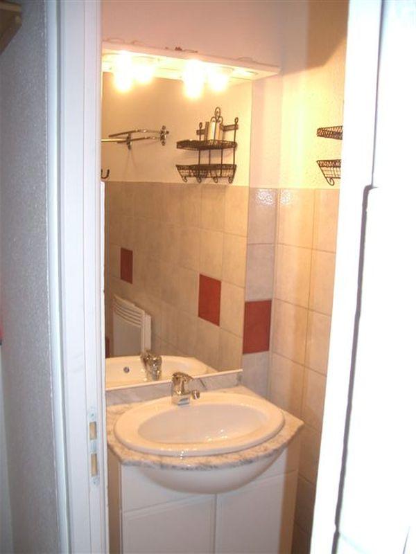 Salle d'eau avec douche, lavabo et WC